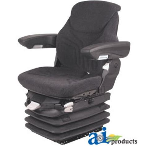 bolstered grammer suspension seat w isolator msg95ggrc assy grammer seat assembly charcoal matrix cloth