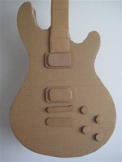 Paper Guitar Craft - the sheen cardtail cardboard guitar many photos