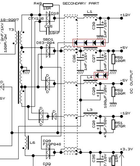 calcolatore alimentatore pc switching power supply atx 13 8v semplici modifiche per