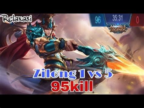 Kaos Custom Mobile Legends Zilong vote no on with turrets episode 1 1 434 kills