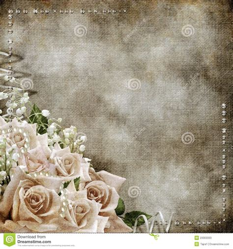 classic romantic wallpaper wedding vintage romantic background with roses stock