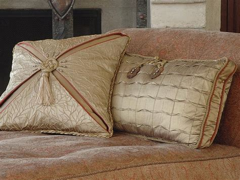 designer sofa cushions decorative pillows decorative taupe silk pillows