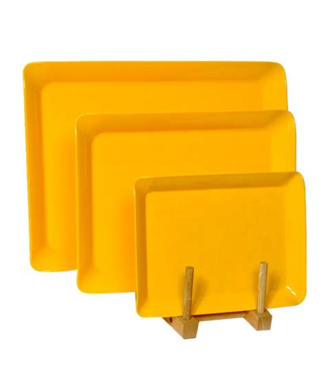 Set 3pcs Dig Yellow superware yellow melamine tray set 3 pcs buy at best price in india snapdeal