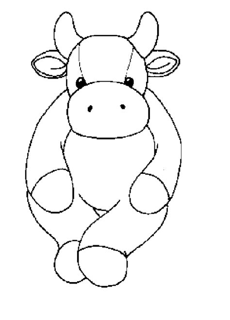 beanie babies coloring page coloring activity pages cow beanie baby coloring page