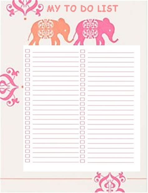 my to do list template to do lists template things i like