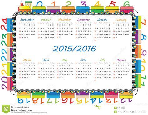 Calendario De La Escuela Calendario De La Escuela Stock De Ilustraci 243 N Imagen