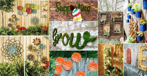 Backyard Wall Decorating Ideas Inspiring Garden Fence Decor Ideas For Your Garden