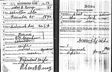 Seminole County Marriage Records Oscar Edwin Berry