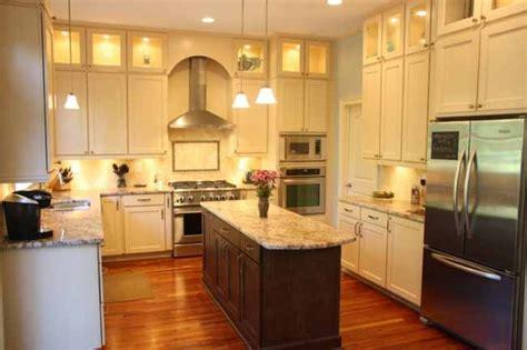cream kitchen dark island quicua com cream cabinets dark island wood floors kitchen