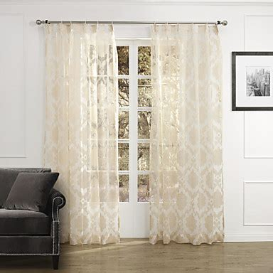 Country Sheer Curtains Two Panels Country Floral Botanical Beige Bedroom Polyester Sheer Curtains Shades 1490389 2016