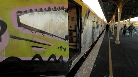 spray painter warrnambool vandals graffiti v line s ageing trains the standard