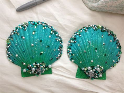 Shell Bra green embellished shell bra bestival costume inspiration shells green and bras