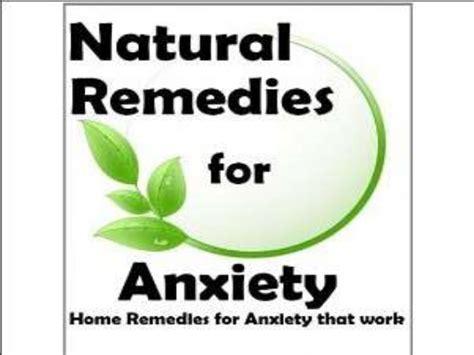 remedies for anxiety home remedies for anxiety