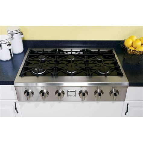 36 Gas Cooktop Kenmore Pro 30503 36 Quot Slide In Ceramic Glass Gas
