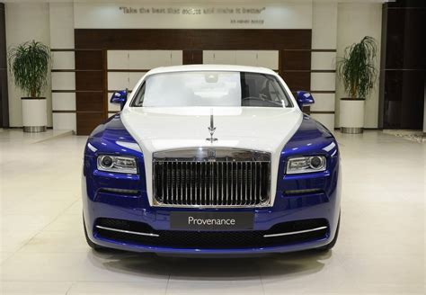 rolls royce blue blue and white rolls royce wraith is bespoke to its core