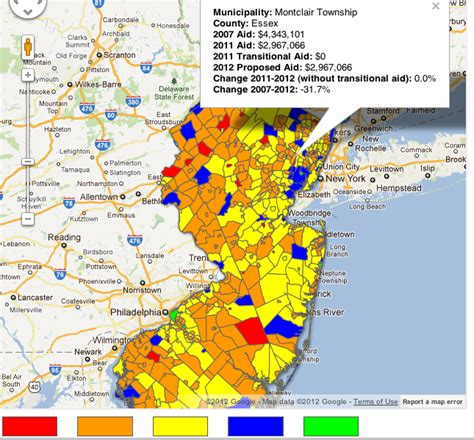 Nj Property Tax Search By Address Municipal Aid Nj Spotlight Interactive Map Baristanet