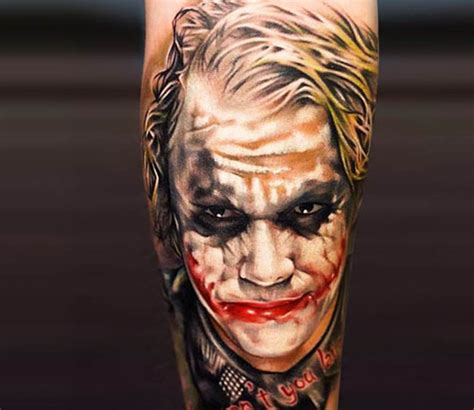 brilliant joker tattoo more than just gotham s nemesis