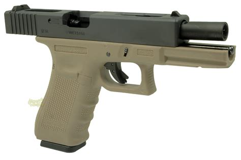 Airsoft Gun Glock 27 we metal slide 2 tone glocks popular airsoft