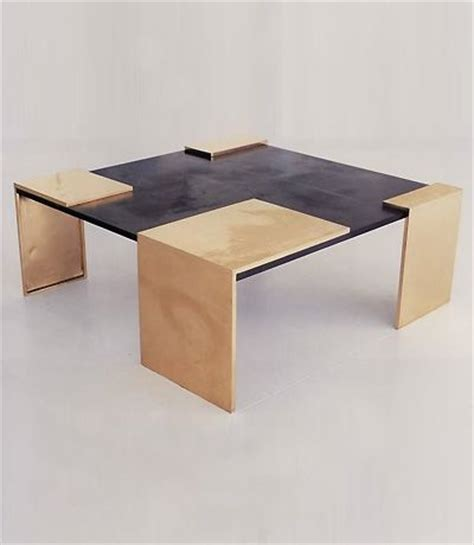 eric bronze and slate coffee table for ralph pucci