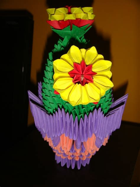 3d Origami Flower Pot - cactus flower pot album trusha 3d origami