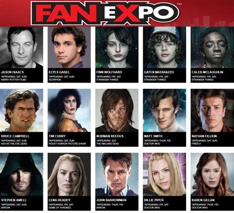 fan 2017 guests fan expo 2017 offering wide range of