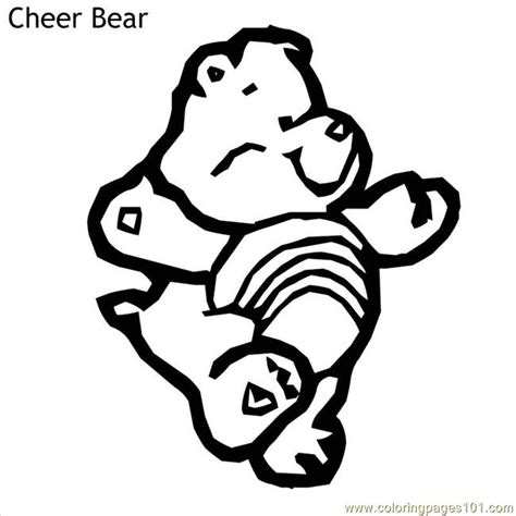 cheer bear coloring pages coloring pages cheer bear cartoons gt care bears free