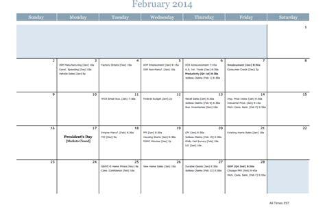 Economic Calendar Traders Laboratory Economic Calendar 2014
