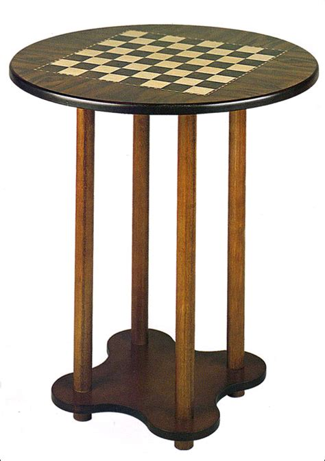 Checkers Table by Four Legged Chess Checkers Table