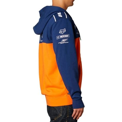 Zipper Hoodie Ktm Racing Hitam fox racing mens ktm replica front fleece hoody zip sweatshirt navy orange small apparel in