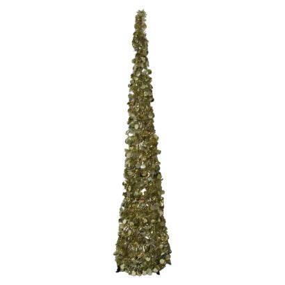 Collapsible Tree - tinsel tree artificial flowers and room on