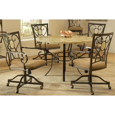 hillsdale brookside dining set table with oval back