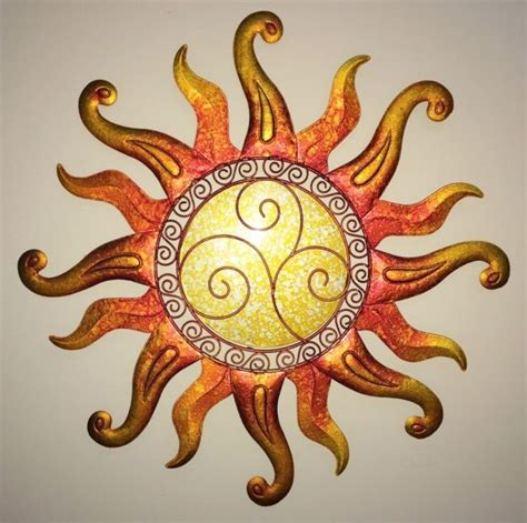 swirl sun wall art glass metal sunburst decor sculpture