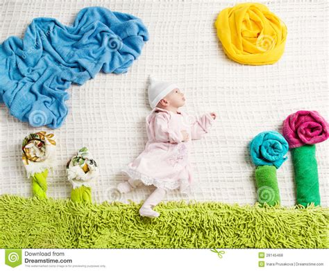 baby photo ideas royalty free digital stock photos for newborn baby lying on creative clothing stock photo