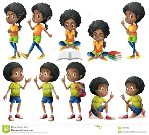 Kitchen Design Prices by African American Kids Stock Vector Image 43864189