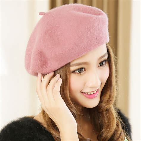 Topi Fashion Korea Tp80 winter wool beret hat warm winter autumn korean fashion hat for and outdoor sun