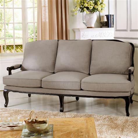 baxton studio antoinette classic antiqued sofa