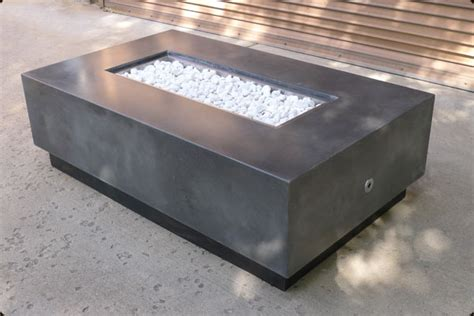 Concrete Pete Rectangular Firepit Raleigh Nc Concrete Firepits