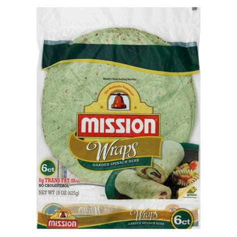 Tortilla Kecil 19 Cm Isi 20 mission 174 large garden spinach and herb wrap tortilla 6ct target