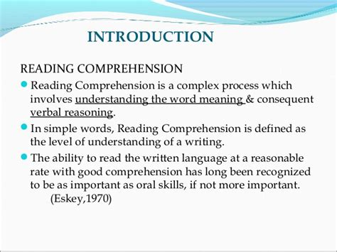 thesis about reading comprehension strategies sle thesis on reading comprehension