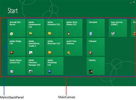 xaml layout containers wpf metro a win8 start screen clone codeproject
