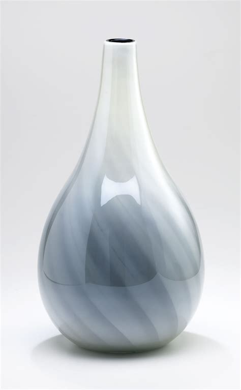 large white glass vase by cyan design