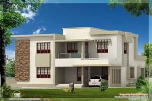 Flat Roof House Design by 4 Bedroom Contemporary Flat Roof Home Design
