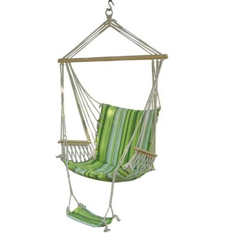 canvas swings hammock armrest swing chair cing garden outdoor hanging