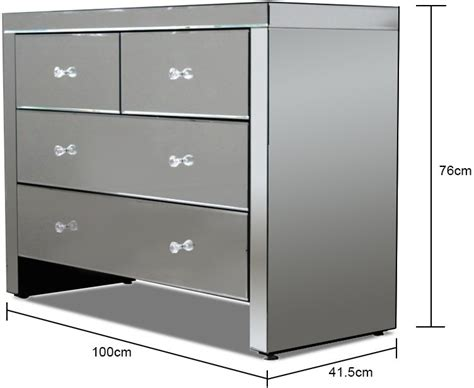 Mirrored Bedroom Chest Of Drawers by Mirrored Chest Of 4 Drawers Bedroom Chests Of Drawers