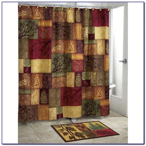 bathroom curtain and rug sets shower curtain and valance sets curtains home design