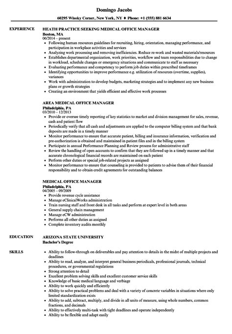 practice manager resume exles office manager resume sles velvet