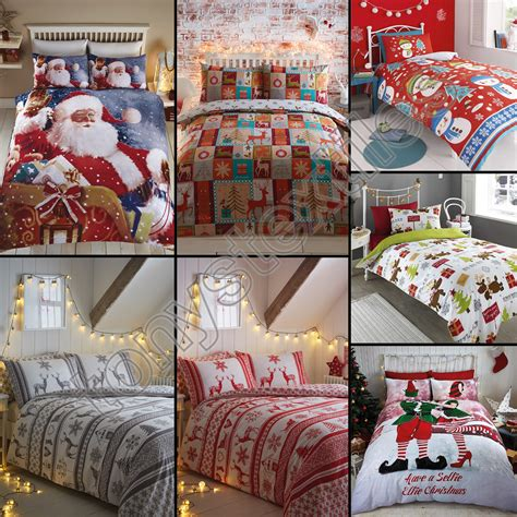 3pc christmas holiday santa snowflake comforter set twin