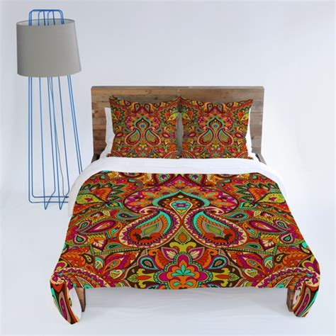 Moroccan Style Duvet Covers aimee st hill paisley orange duvet cover