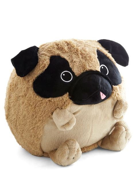 stuffed pug plush one pillow in pug