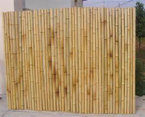rolled bamboo fence